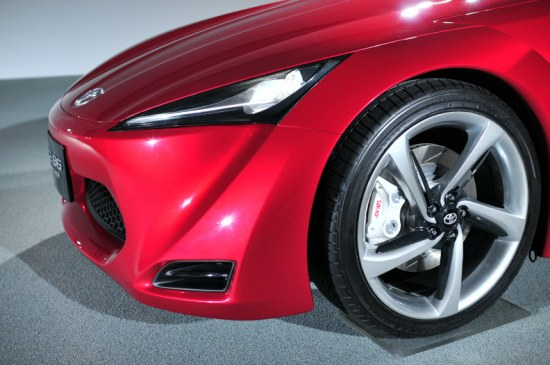 toyota ft-86 concept bonnet, front, headlights, front bumper, photoshoot pic