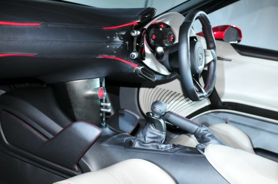 toyota ft86 interior photoshoot studio, leather dashboard