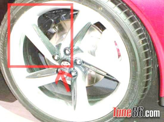 toyota ft-86 concept, handbrake caliper, secondary caliper photo, pic, emergency brake, cable, hydraulic