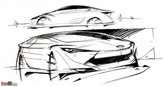 Toyota FT-86 concept design sketches