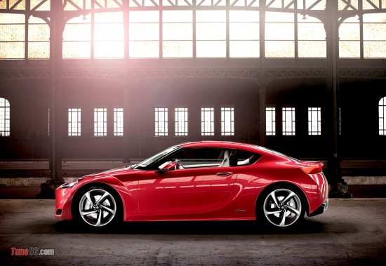 Toyota FT-86 concept angar photoshoot sidephoto, sideshot, wheels, doors, digital pics