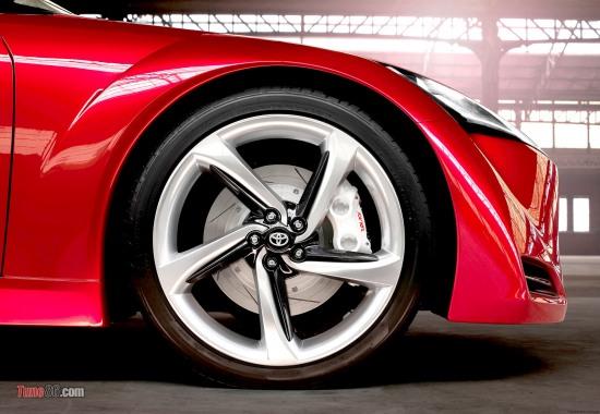 Toyota FT-86 concept angar photoshoot sidephoto, front wheel, sideshot, wheels, fender, well, rim, tires, digital pics