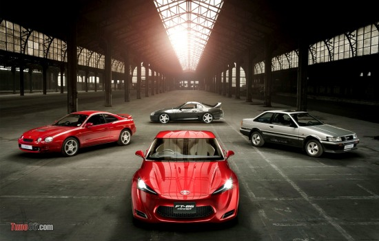 Toyota FT-86 concept photoshoot and Toyota Supra, Toyota Celica, AE86 Levin notchback photo. angar warehouse photoshoot pic