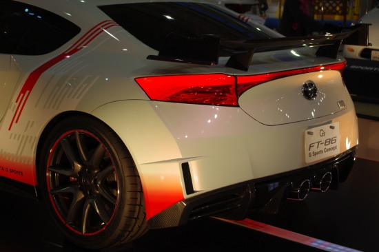 FT86 G Sports at Toyota Mega Web in Odaiba, Tokyo, rear lights photo