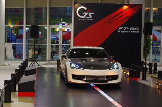 FT86 G Sports at Toyota Mega Web in Odaiba, Tokyo, front photo, intercooler visible