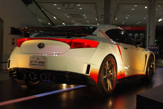 FT86 G Sports at Toyota Mega Web in Odaiba, Tokyo, rear lights photo, rear bumper