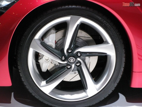 ft86 front wheel - Toyota FT-86 concept front wheel, tire and brake rotor and caliper photo at Geneva Motor show 2010