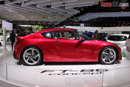 Paris motor show - Photo of Toyota FT-86 Concept at Paris Motor Show 2010, sideshot pic