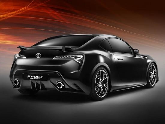 Toyota FT86 II Concept official photos. rear quarter shot.