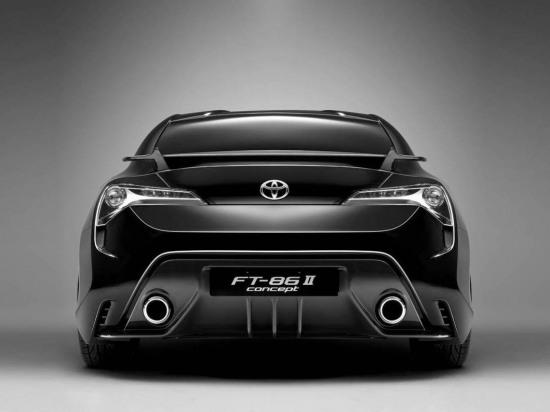 Toyota FT86 II Concept official photos. rear shot.