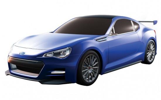 Subaru BRZ 3 - 2013 Subaru BRZ prototype rendering