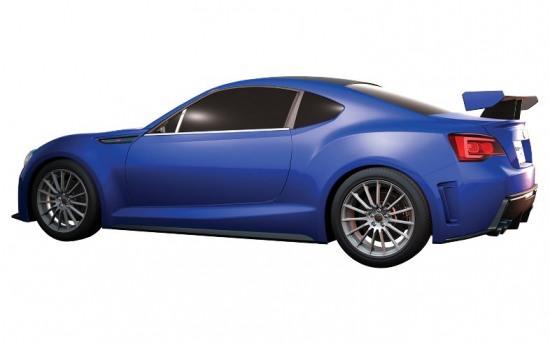 Subaru BRZ 5 - 2013 Subaru BRZ prototype render pic sideshot profile