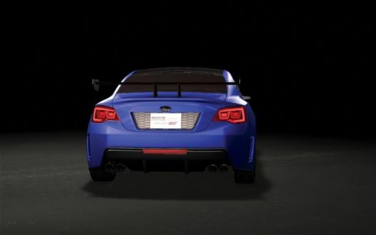 Subaru BRZ 7 - 2013 Subaru BRZ prototype render pic 7 - rear photo