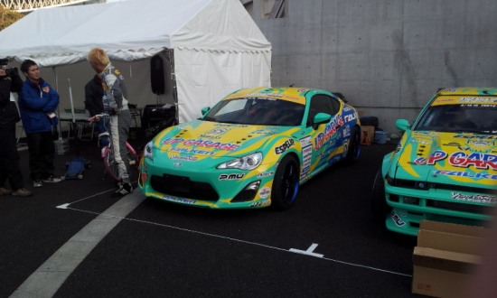 Hibino D1 drift car - Toyota 86 by Falken,Up garage