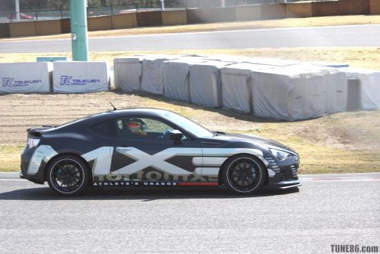 EXM BRZ Tsukuba - Tetsuya Yamano driving Comdrive EXM Exmotion Subaru BRZ at Tsukuba circuit during Hyper meeting event