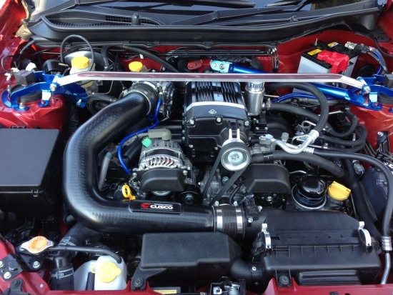 Cusco Supercharged Toyota 86 engine bay photo