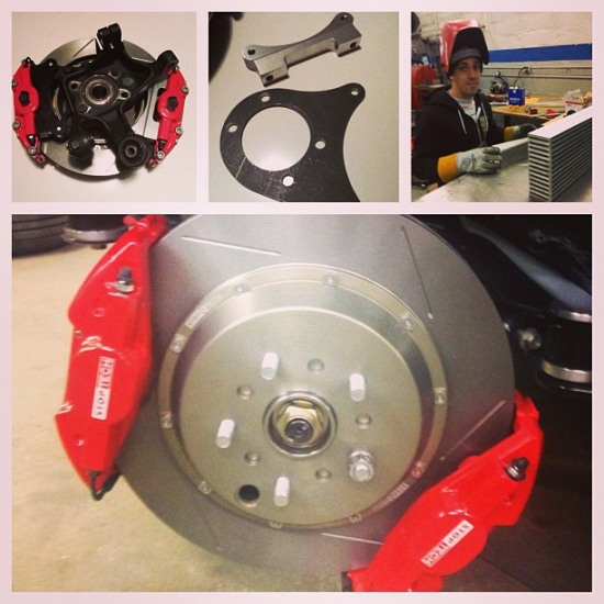 stoptech brakes dominant engineering brackets - stoptech brakes dominant engineering brackets photo image