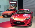 FT-86 concept and Corolla AE86 at Toyota MegaWeb