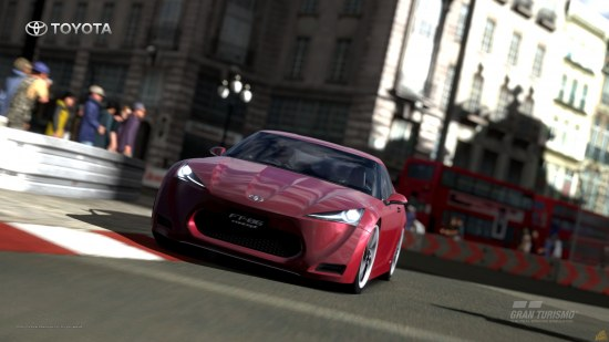 FT-86 on track, playstation 3 Gran turismo 5