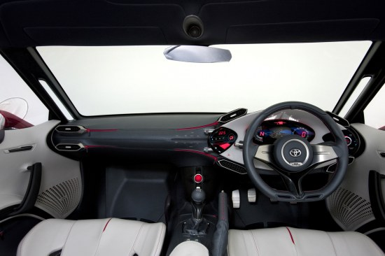 Toyota FT-86 Concept first design reveal, interior dashboard