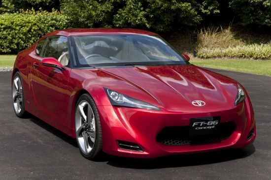 Toyota FT-86 Concept first design reveal, front corner
