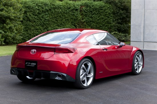 Toyota FT-86 Concept first design reveal, rear corner