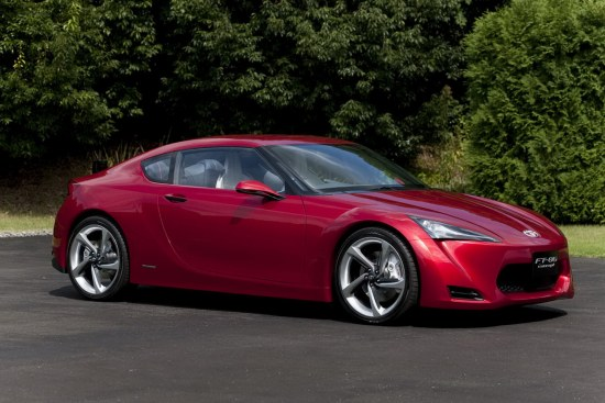 Toyota FT-86 Concept first design reveal, portrait shot, side