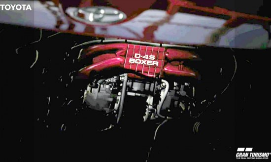 D-4S horizontally opposed boxer engine in Toyota FT-86, snapshot from Gran Turismo 5