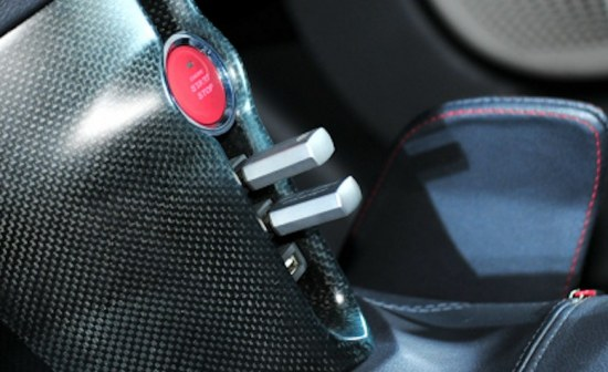 Toyota FT-86 concept, USB ports in center console, engine start button
