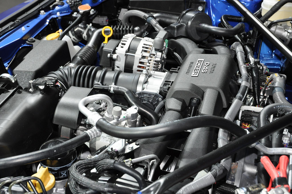 Subaru BRZ engine bay d4s motor 07