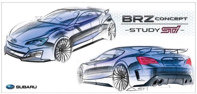Subaru BRZ sketch
