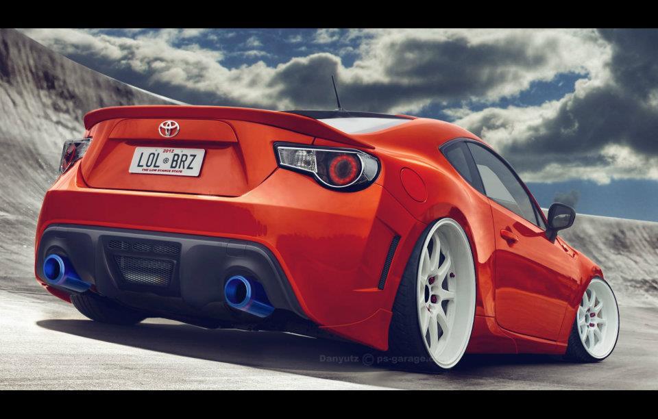 Toyota GT 86 photoshop