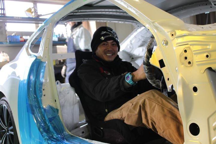 orido manabu toyota 86 v8 d1gp build seat
