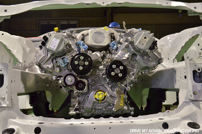 orido max manabu d1gp toyota 86 build 03 v8 engine bay