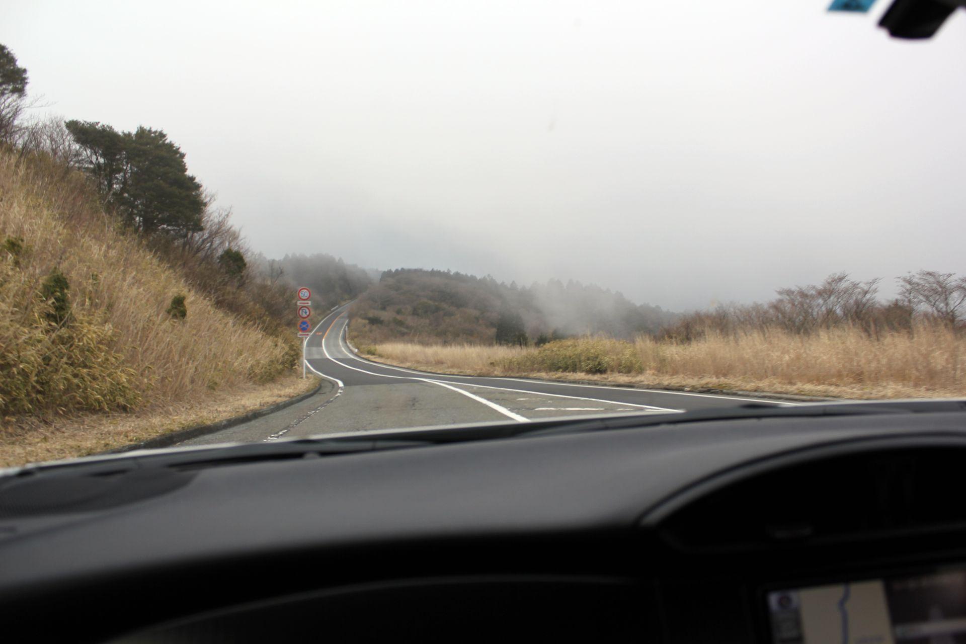 toyota 86 mountains winding road skyline