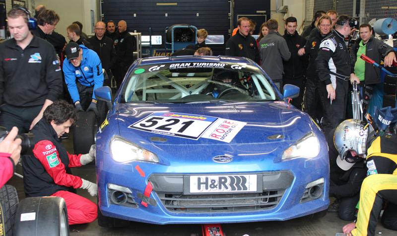 07 Horst Subaru BRZ team pits
