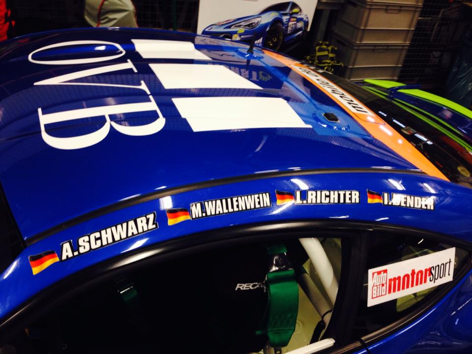 17 Horst Subaru BRZ team names on car
