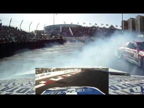 Onboard Ken Gushi's GReddy Scion FR-S - Formula Drift Round 1 - Streets of Long Beach 2012 - HD